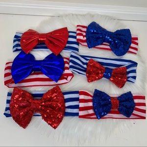 Patriotic sequin glitter baby headbands